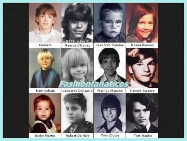 ¿Cómo eran los famosos de pequeños?