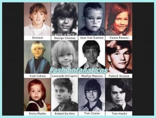 ¿Como eran los famosos de pequeños?