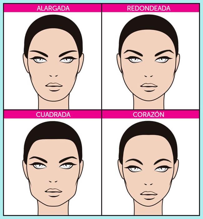 formas de las cejas