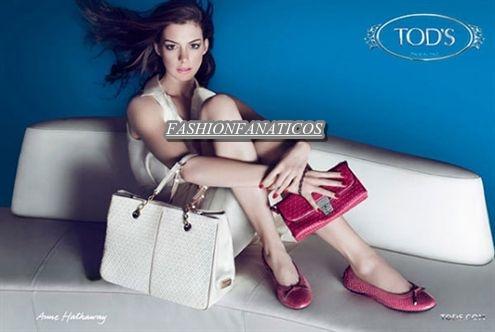 Anne Hathaway imagen de la firma Tod's