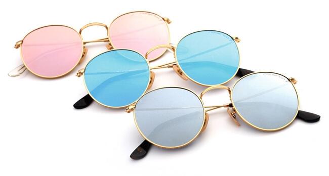 Gafas de sol redondas, tendencias