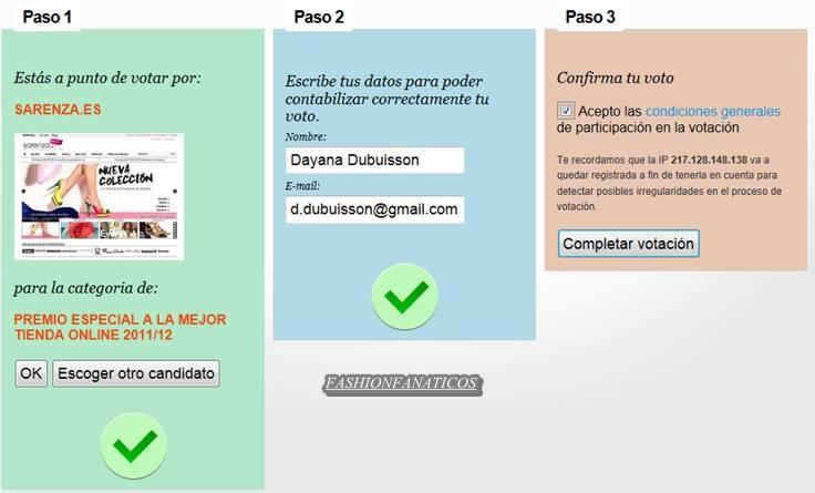 Sarenza.es se presenta al concurso «E-commerce AWARDS 2012»