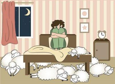 Insomnio, lucha por dormir