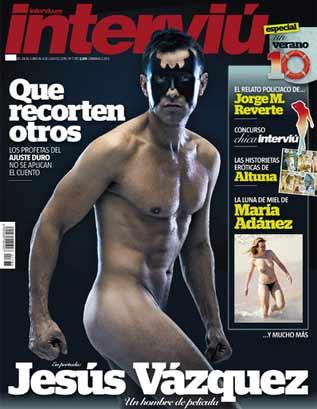 Jesús Vázquez se desnuda en Interviu por una buena causa(todas las imágenes en Fashionfanáticos)