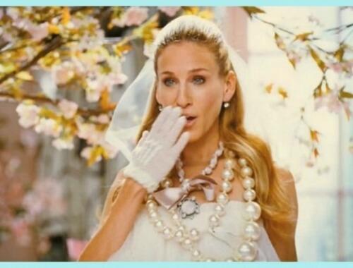 Carrie Bradshow el día de su boda
