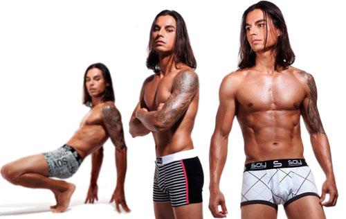 Julio Iglesias Jr, nueva faceta como modelo y diseñador de ropa interior
