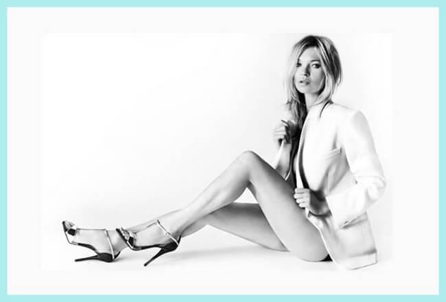 Kate Moss se convierte en la musa de Stuart Weitzman