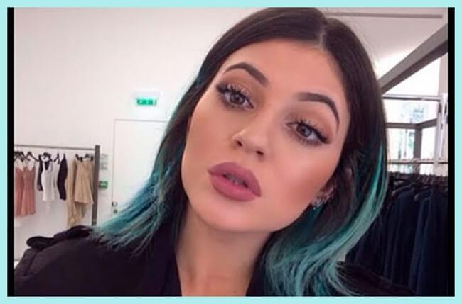 Kylie jenner con los labios gruesos
