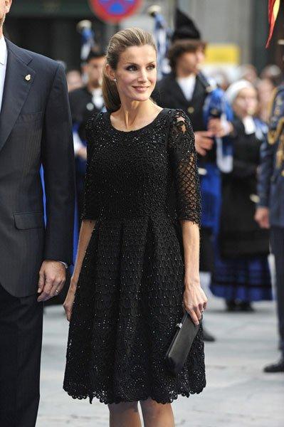 La princesa Letizia elegante y sobria en los premios Príncipe de Asturias