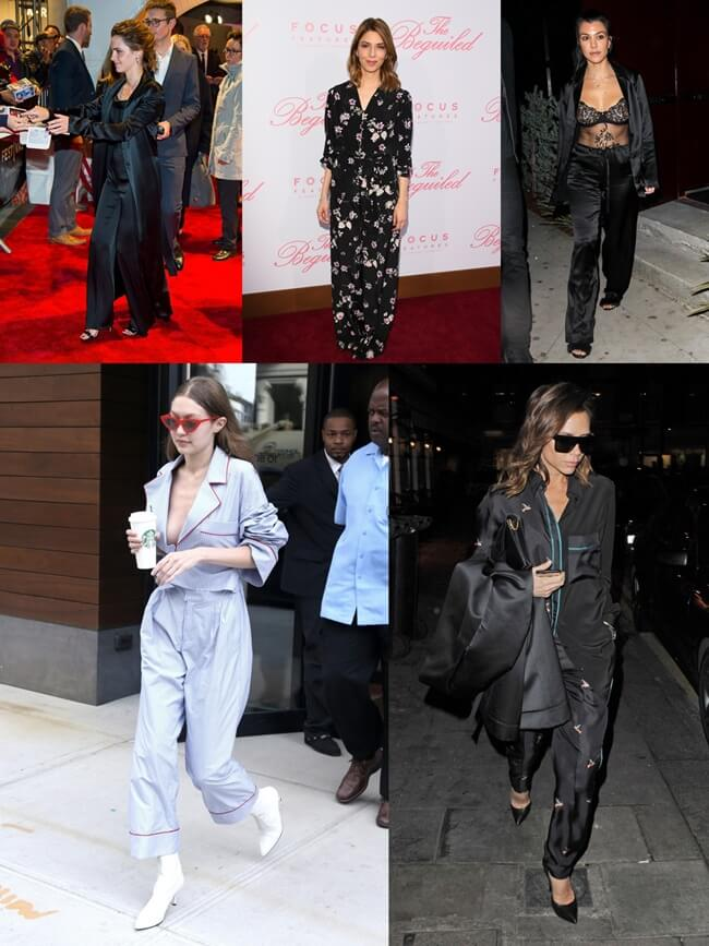 El look pijama se impone en las celebrities