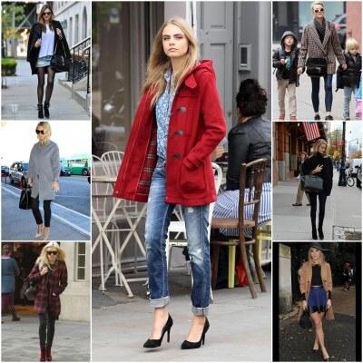 las famosas luciendo los abrigos de moda