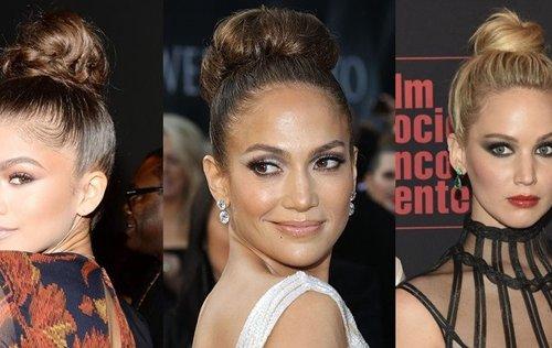 Las celebrities apuestan por el moño alto