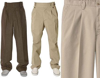 Pantalones plisados y con pliegue para hombre