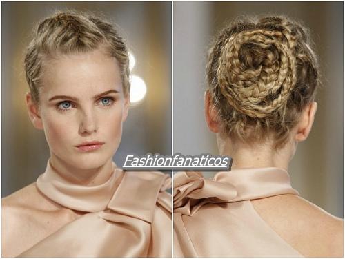 Trenzas, peinados de novia 2012