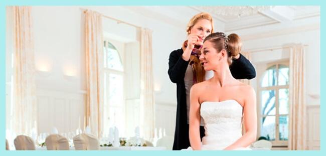 organizador de bodas con novia