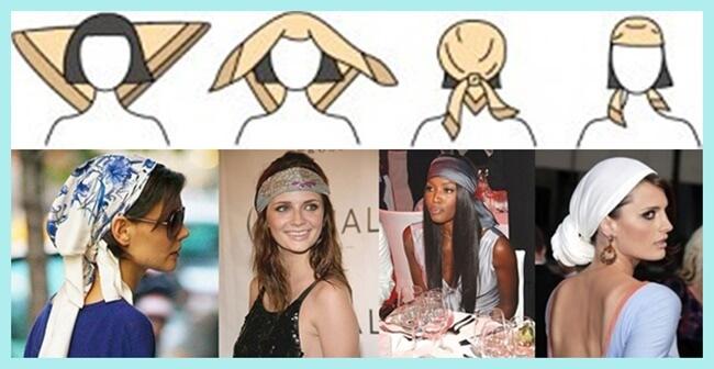 Cómo llevar un pañuelo en la cabeza