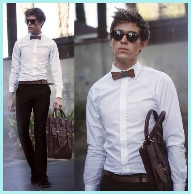 blogger luciendo pajarita