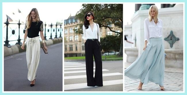 Pantalones Palazzo, ¿cómo lucirlos bien?