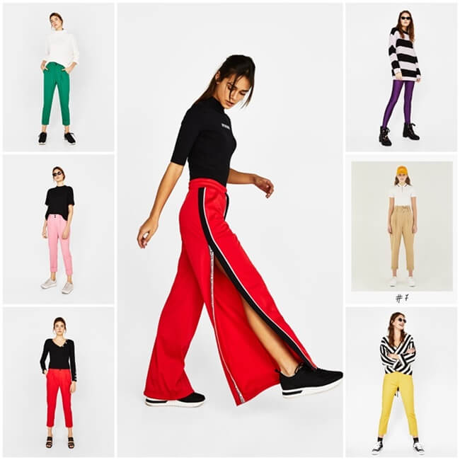 Pantalones de colores, toda una tendencia entre las celebrities