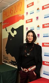 Paola Dominguín presenta el cartel de las Fallas 2012