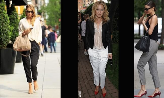 Peg leg trousers, son tendencia