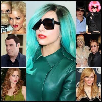 imágenes de famosas con pelucas