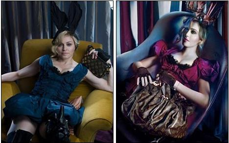 Los milagros del Photoshop: Madonna para Louis Vuitton