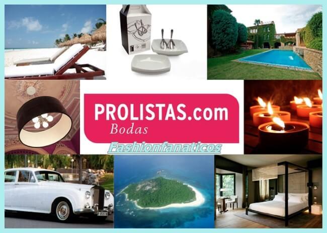 PROLISTAS, la 1ª lista de boda 100% online