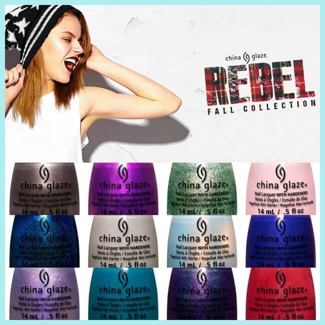 Rebel, nueva colección de esmaltes de uñas de China Glaze