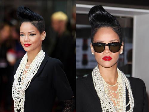 Rihanna y su pelo, ahora con tupé
