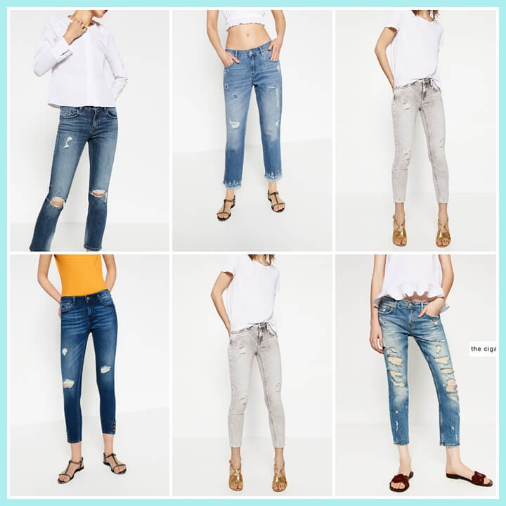 ripped jeans de zara
