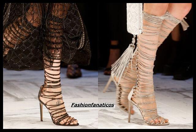 Ficha las sandalias con cordones