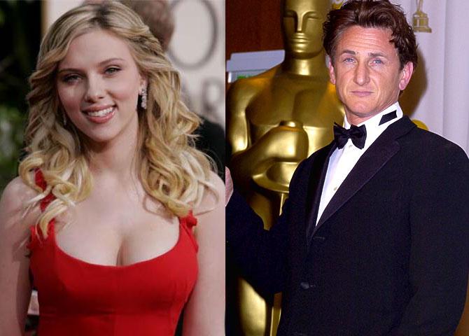 Scarlett Johanson y Sean Penn, cada uno por su lado