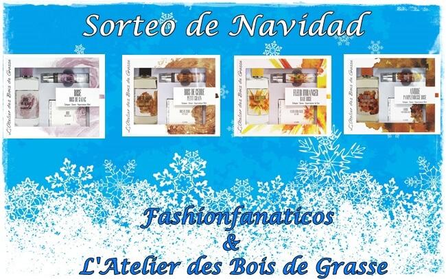 Sorteo de Navidad de cuatro Kits de Fragancias de L'Atelier des Bois de Grasse