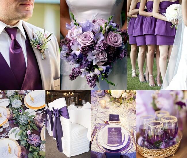 Ultra Violeta, el color de moda en las bodas 2018