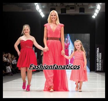 Valeria Mazza desfila con su hija en la pasarela de Buenos Aires Alta Moda