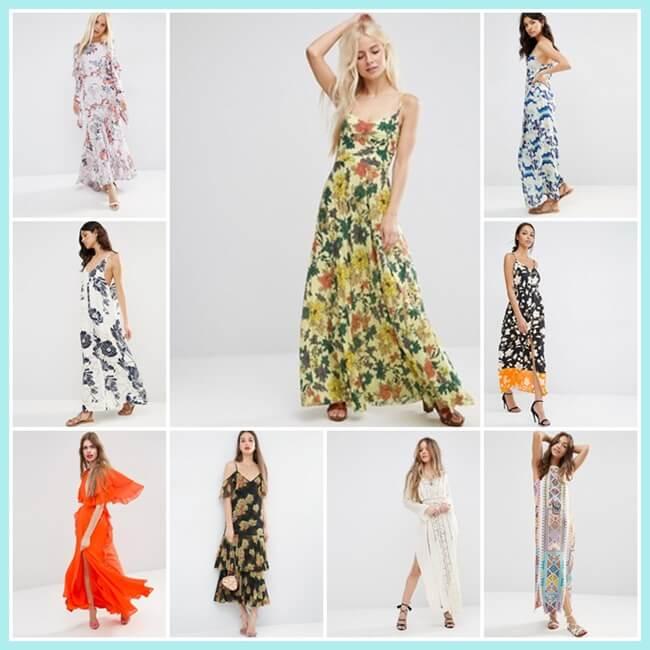 vestidos largos de ASOS verano 2016