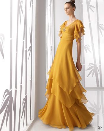 vestido de fiesta de Rosa Clará